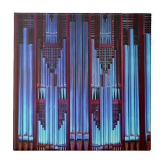 Christchurch Town Hall pipe organ blue pipes Tile