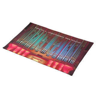 Christchurch Town Hall pipe organ placemats