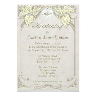 Christening | Angel Monogram Card