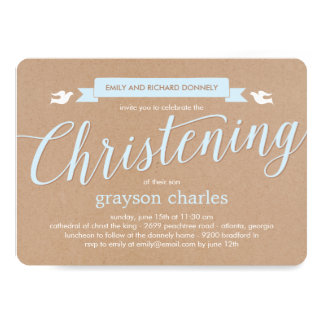Browse Zazzle Christening invitations and customise with your own text, photos or designs.