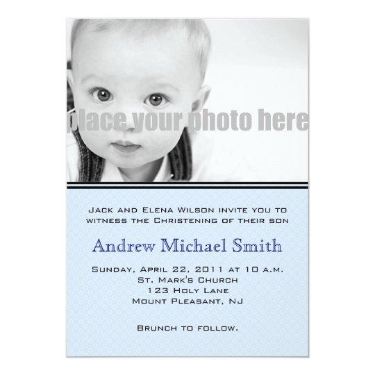Christening/Baptism/Dedication Photo Invitation