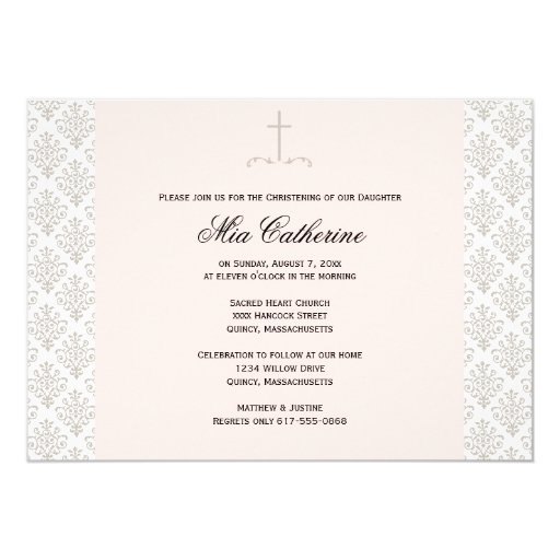 Christening / Baptism Invitation - Personalise