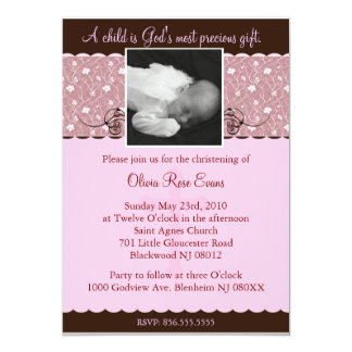 Christening/Baptismal Invitaion 13 Cm X 18 Cm Invitation Card