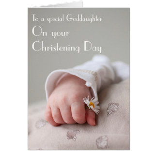 Christening card from Godparent to Goddaughter