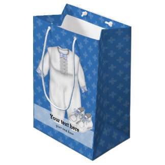 Christening * choose background color medium gift bag
