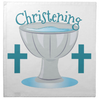 Christening Cloth Napkin