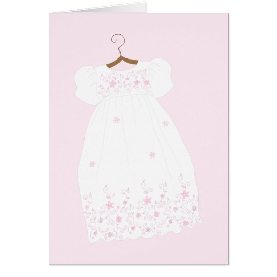 Christening Gown Baptism Greeting Cards