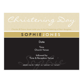 CHRISTENING INVITE :: simply groovy 3 Postcard