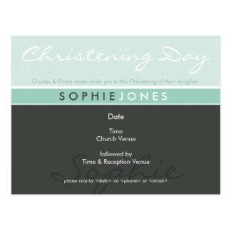 CHRISTENING INVITE :: simply groovy 5 Postcard