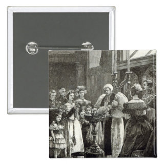 Christening of the Princess Louise 15 Cm Square Badge