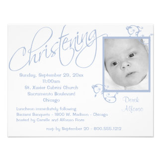 Christening Scroll For Baby Boy Personalized Invite