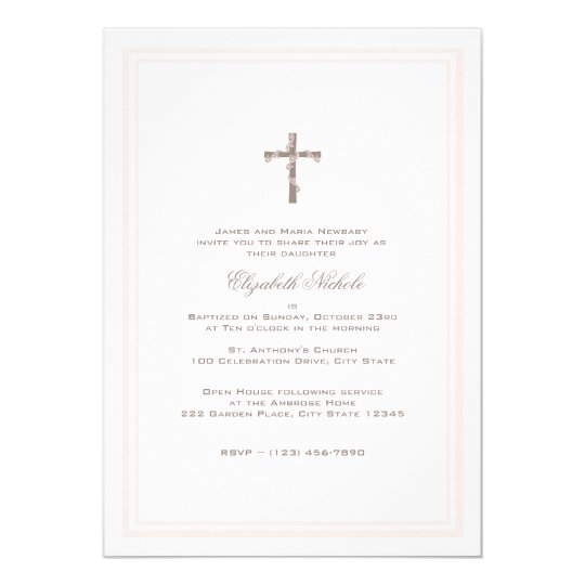 Christening Soft Pink and Brown Card