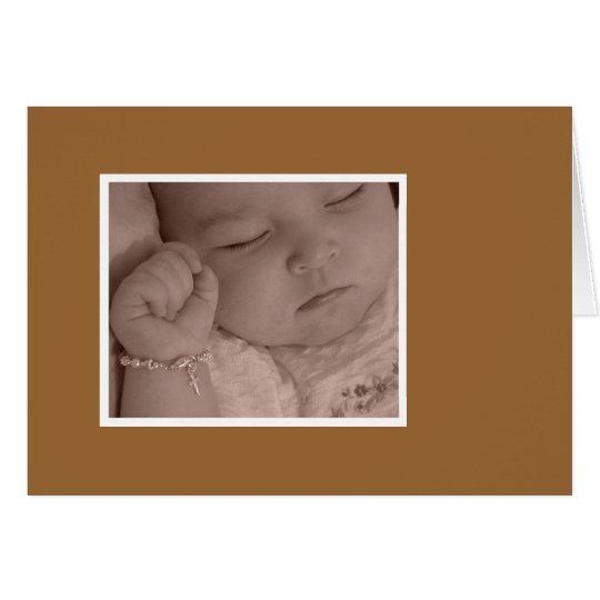 Christening Thank You Card