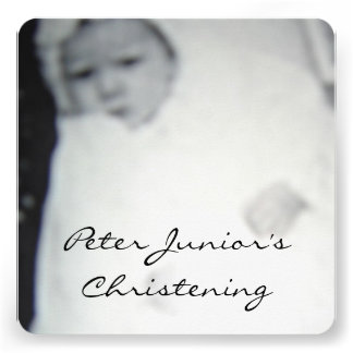Christening Vintage Invitation