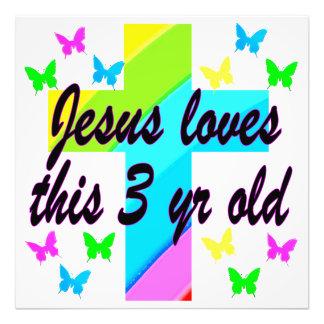 CHRISTIAN 3 YR OLD BIRTHDAY PRAYER DESIGN PHOTO PRINT