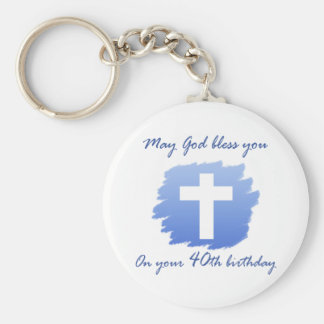 Christian 40th Birthday Gifts Key Ring