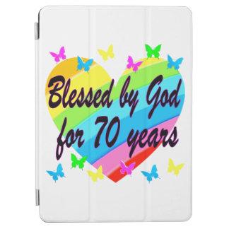 CHRISTIAN 70TH BIRTHDAY HEART DESIGN iPad AIR COVER