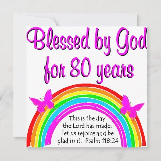 Christian 80th Birthday Card Zazzle Co Uk
