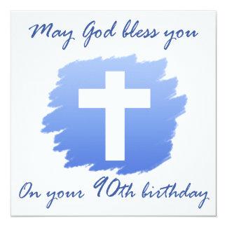 Christian 90th Birthday Gifts Card