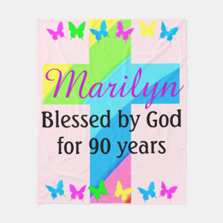 CHRISTIAN 90TH BIRTHDAY PERSONALIZED BLANKET