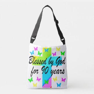 CHRISTIAN 90TH BIRTHDAY PRAYER DESIGN TOTE BAG