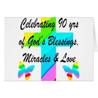 CHRISTIAN 90TH CARD