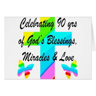 CHRISTIAN 90TH NOTE CARD