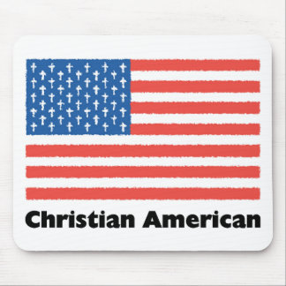 Christian American Flag Mouse Mat