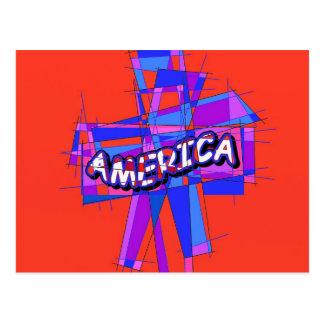 Christian American Mosaic Postcard