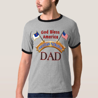 Christian and American Flag Clothes for Men, DAD T Shirts