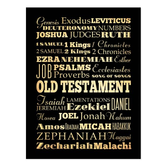 Christian Art - Books of the Old Testament. Postcard