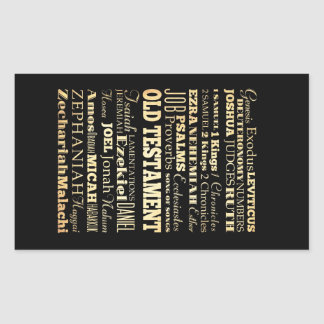 Christian Art - Books of the Old Testament. Rectangular Sticker