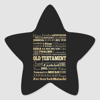 Christian Art - Books of the Old Testament. Star Sticker