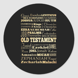 Christian Art - Books of the Old Testament. Round Sticker