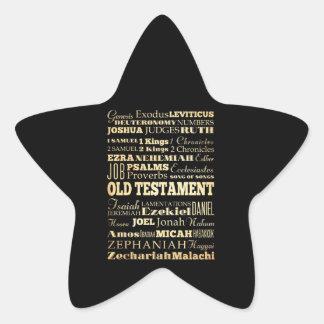 Christian Art - Books of the Old Testament. Star Sticker