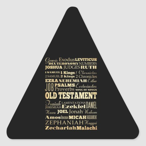 Christian Art - Books of the Old Testament. Triangle Stickers