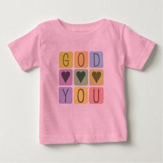 Christian baby t-shirt: God Hearts You Baby T-Shirt