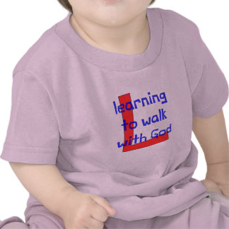Christian baby t-shirt - Learning to walk