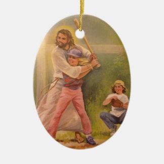 Christian baseball ornament