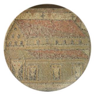 Christian basilica, mosaic pavement, Roman period, Plate