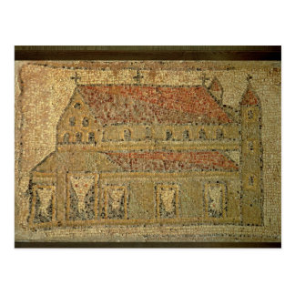 Christian basilica, mosaic pavement, Roman period, Postcard