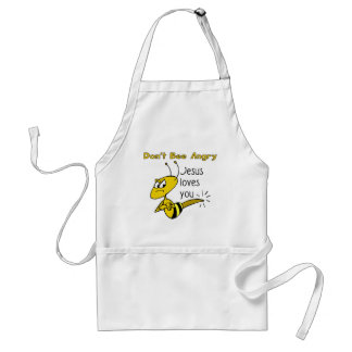 Christian bee design Don t bee angry Apron