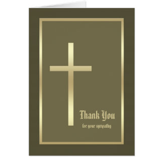 Christian Bereavement Sympathy Thank You Card