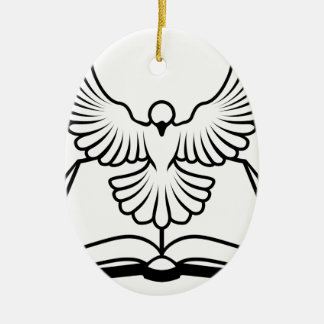 Christian Bible Dove Concept Christmas Tree Ornament