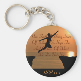 CHRISTIAN BIBLE SCRIPTURE SINGLE-SIDED KEYCHAIN