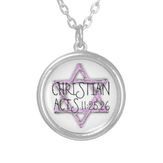 Christian Bible Verse Acts Necklace
