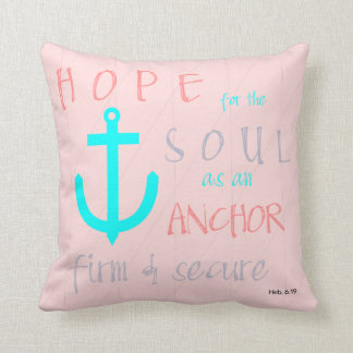 Christian Bible Verse Hope for the Soul Cushion