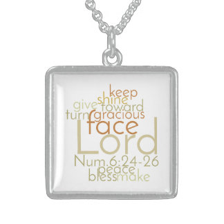 Christian Bible Verse PRIESTLY BLESSING Sterling Silver Necklace