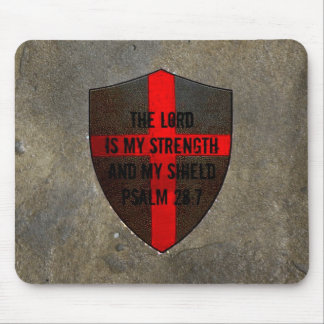Christian Bible Verse Psalm 28:7 Lord..my strength Mouse Mat