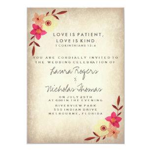 Bible Verse Wedding Invitations & Announcements | Zazzle.co.uk
